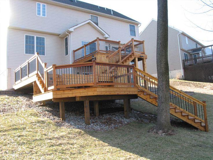 Multi Level Patio Ideas : multi level deck  Backyard Ideas  Mom  Pinterest