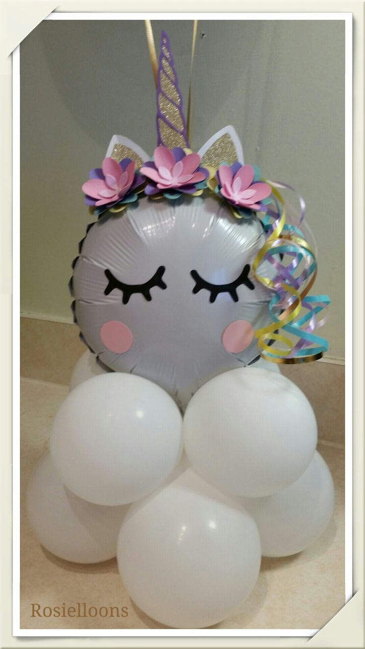 Unicorn decorations - balloons