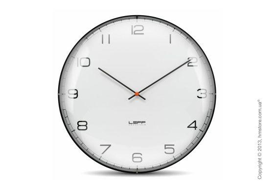 Настенные часы LEFF Amsterdam one45 convex glass с циферблатом из выпуклого стекла, прекрасно дополнят интерьер дома или рабочего пространства. Версия с классическим циферблатом.