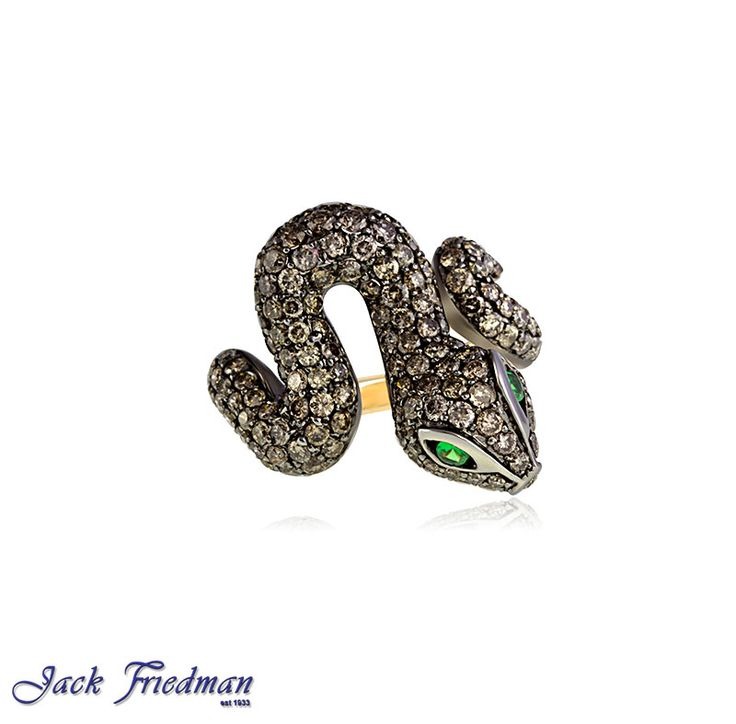 Snake ring with cognac diamonds jackfriedman.co.za