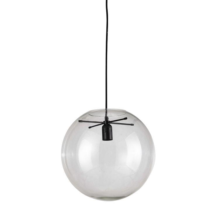 LAPLACE glass transparent pendant lamp D 34cm