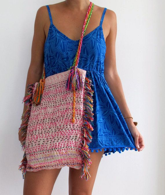 Gypsy Tassel Bag Handmade Unique Shaggy Hip Bag by ljcdesignss, $35.00