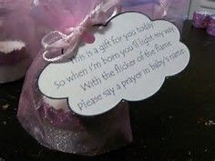baby shower candle favor with prayer request - Bing images
