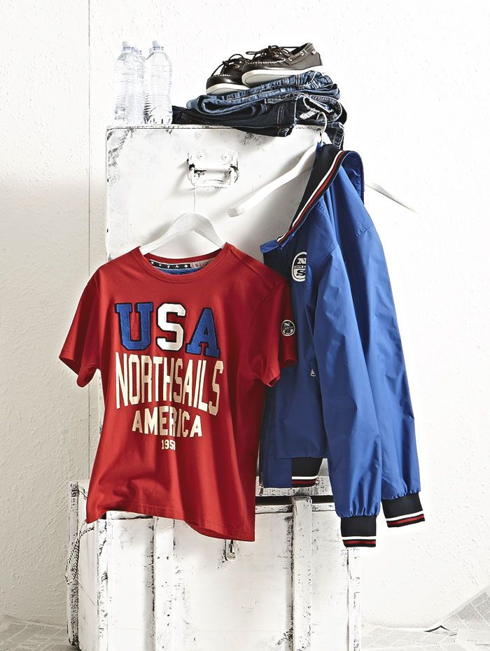 #NorthSails #Lookbook #collection #spring #summer #2014 #Jacket #Sailor #Team #tshirt #red #demin #shoes #giacca #maglietta #jeans #scarpe #Cesare #Medri