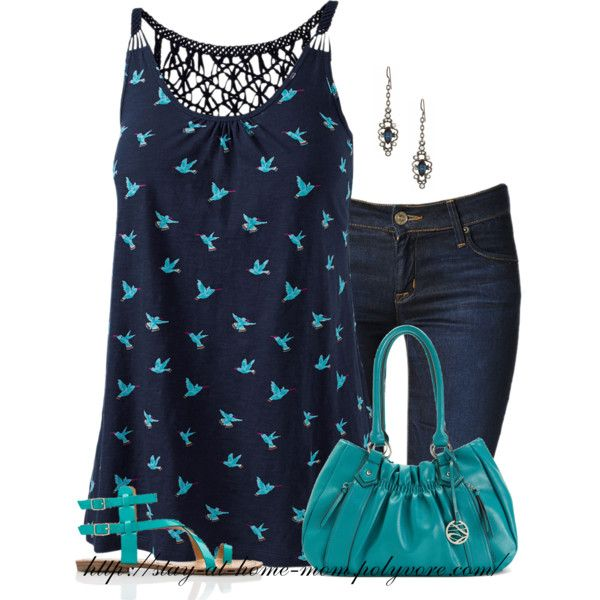 Hummingbirds by stay-at-home-mom on Polyvore featuring Fat Face, Hudson Jeans, Forever 21, Style & Co. and Diana Warner