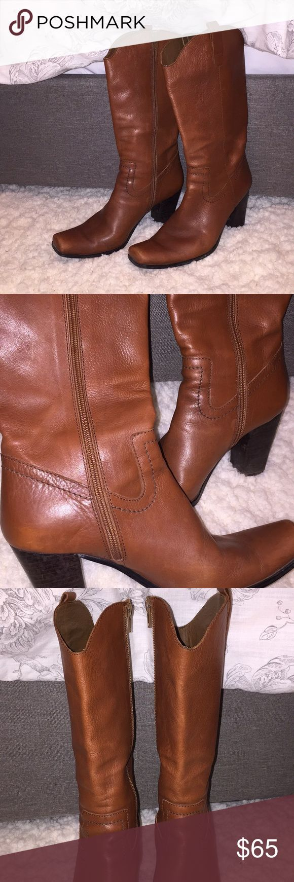 Ursula Mascaro brown leather boots - Size 38 Ursula Mascaro brown leather boots - Size 38   Worn a few times, but in terrific condition. A few spots (see photos), but I believe a cobbler could clean them properly and get them out. Ursula Mascaro Shoes Heeled Boots