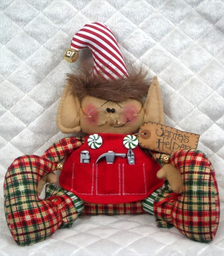 "Primitive Raggedy ""Elf Andy"" Santas Helper Pattern 71A 