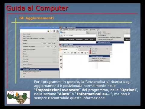 Lezione 79 (VIDEO) - GLI AGGIORNAMENTI.  Cosa sono gli aggiornamenti e come eseguirli per i programmi ed il sistema operativo.