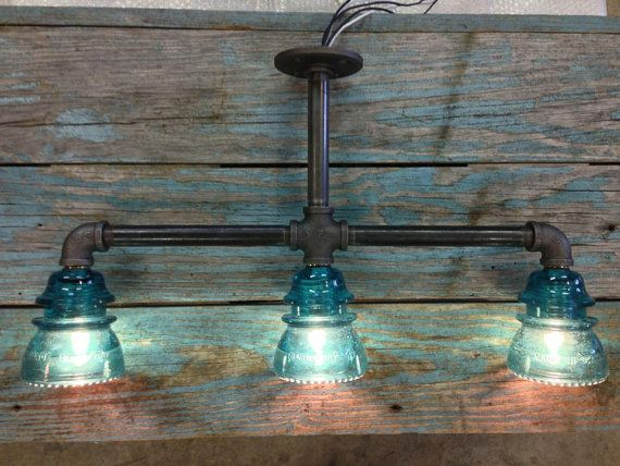 Triple Glass Insulator Kitchen Sink Light by luceantica on Etsy