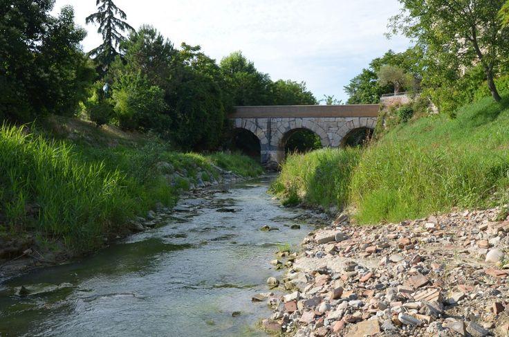 Roman bridge over the Rubicon river, Savignano sul Rubicone, Italy. br