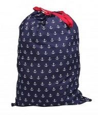 Anchors Navy - College Laundry Bag