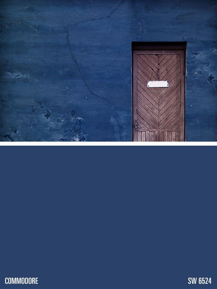 Sherwin williams blue paint color commodore sw 6524 paint pinterest paint colors - Jamestown blue paint color ...