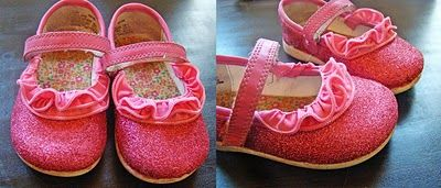 DIY: Shoe makeover-I have the perfect shoe of Rain's to do this with and since she's 6, glitter reigns supreme so she's gonna flip for them!