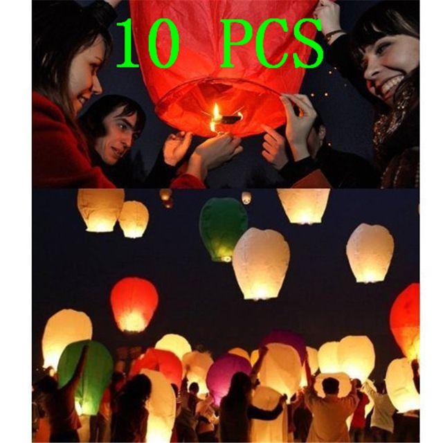 2016 Flying Linterna del Cielo Linterna de Kongming Deseando Lámpara Globo de Aire Caliente Lindo Favores de Partido Para la Fiesta de Cumpleaños Deseos de Colores