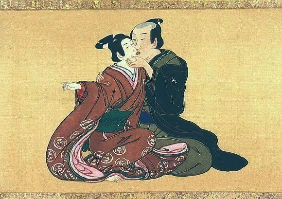 """IWakashū (literalmente """"pessoa jovem"""") é uma expressão histórica japonesa que se refere a um rapaz adolescente; mais especificamente, um rapaz com idade para usar o cabelo parcialmente rapado (maegami), o que acontecia a partir dos 5/10 anos de idade, quando o rapaz deixava de ser criança e podia dar início a uma educação formal ou a trabalhar como aprendiz fora de casa, até à cerimónia genpuku, de passagem à idade adulta (aos 15/20 anos de idade).  Clique na imagem para ler mais..."""