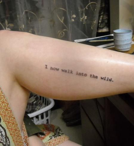 23 best images about into the wild on pinterest to tell for Best script tattoo artist austin