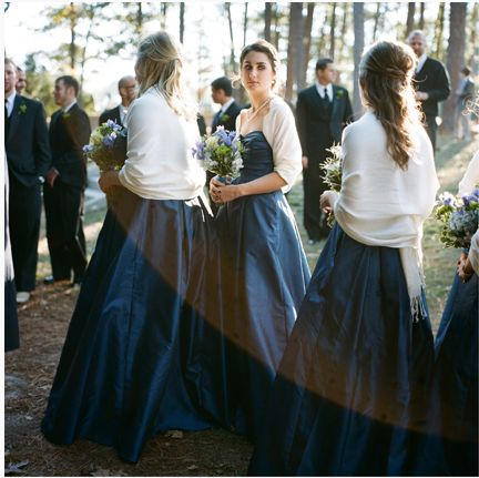 Navy Blue Bridesmaids Dress With White Pashmina Shawl Wedding Inspiration Pinterest Bridesmaid And