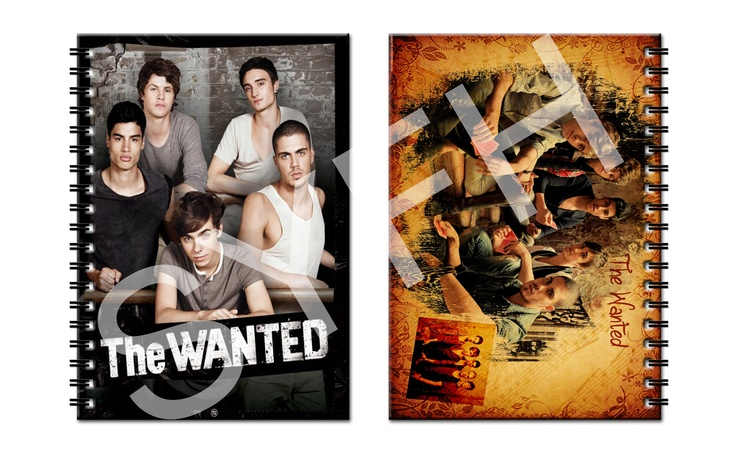 The Wanted Notebook.  IDR 30,000 with 2 covers (front and back). Contains 50 pages blank white paper.