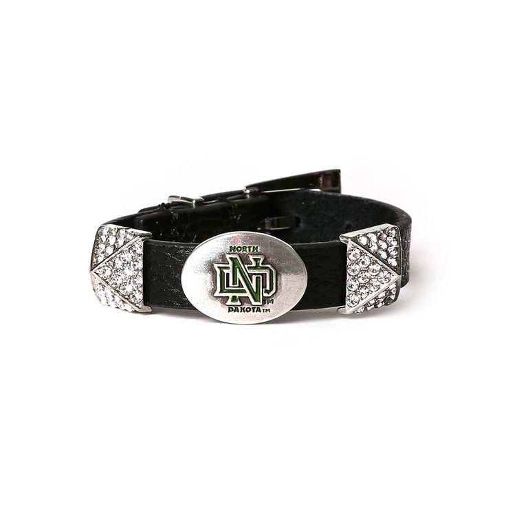 Women's North Dakota Fighting Hawks Pyramid Bracelet, Brown