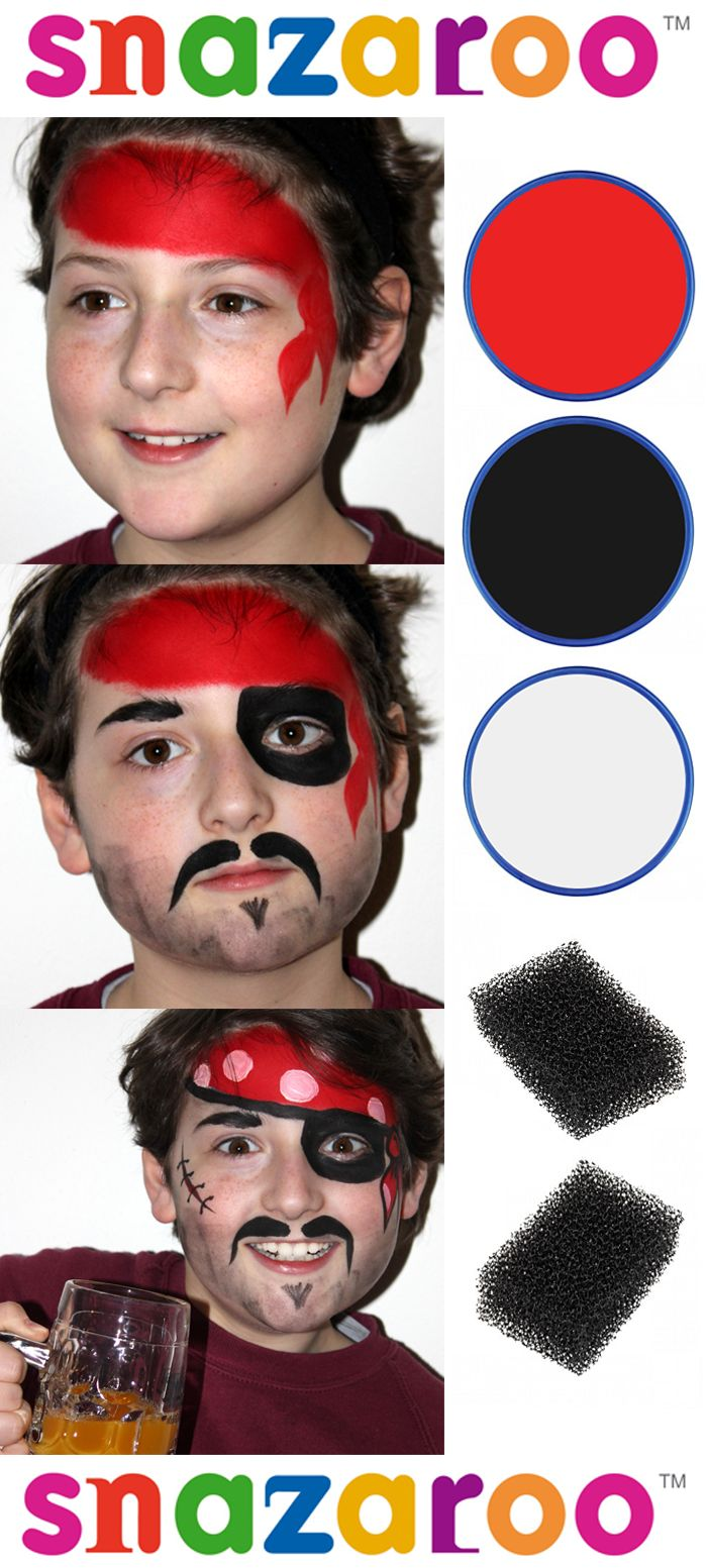 Face Painting for Beginners #tutorial #facepainting #pirate