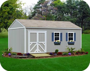 handy home columbia 12x24 wood storage shed kit with optional flooring and windows