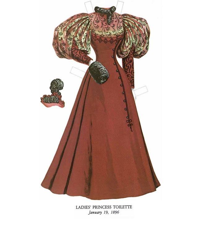 Бумажные куклы, ретро 1895