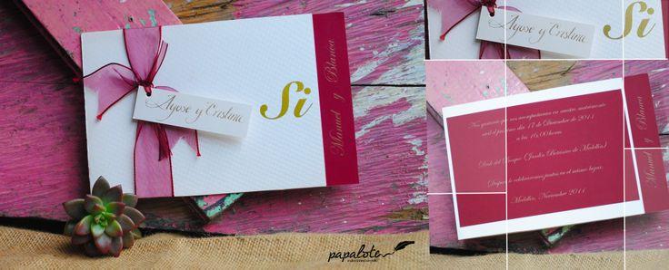 Invitación para Boda, estilo Clásica / Paleta de color: Rubylite / Disponible en Medellín - Colombia / Envíos a nivel Nacional
