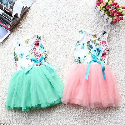 >> Click to Buy << 2016 NEW Arrive Girls Baby Princess Party Flowers Print Floral Tops Bow Tutu Dresses Sundress #Affiliate