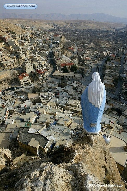 Our Lady over a village in Syria.