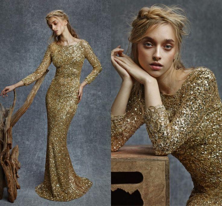 Элегантный королевский синий русалка длинные платья выпускного вечера блестящий золотыми блестками бусины элегантный вечерние платья пром холтер с плеча