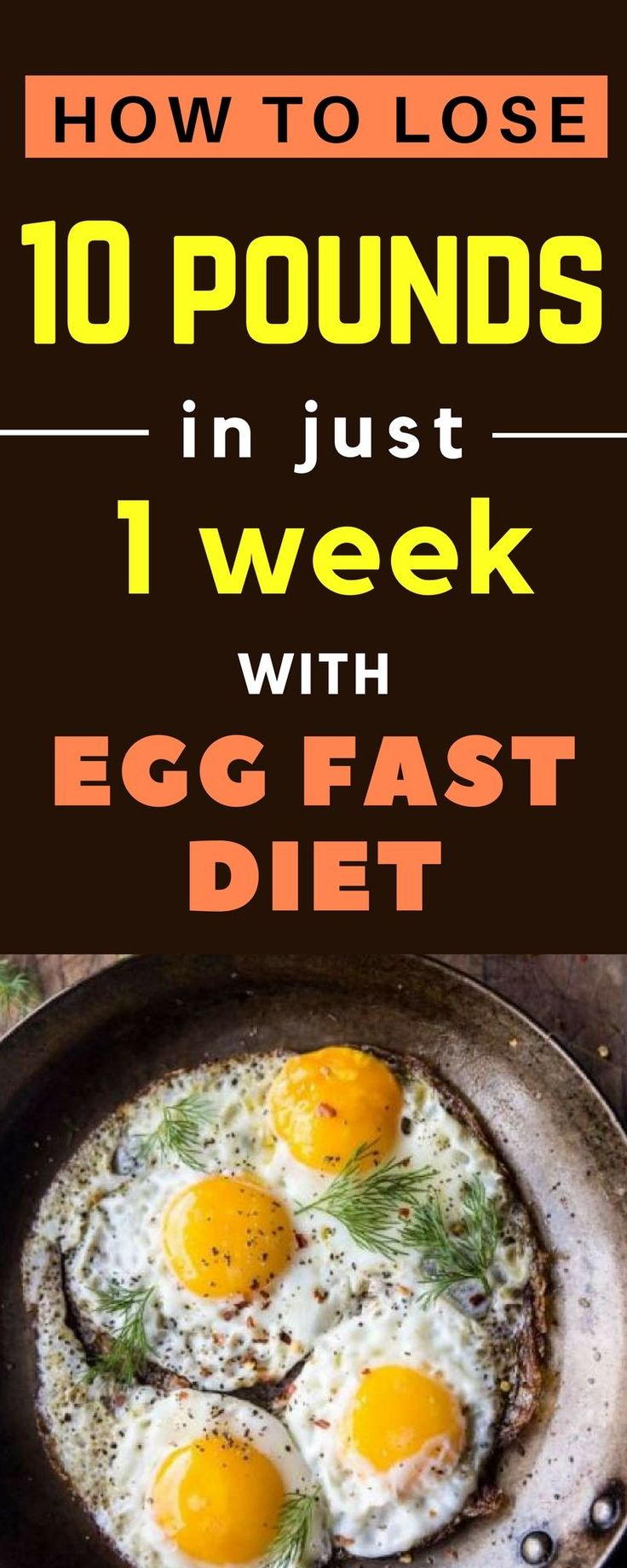 This Egg Fast diet for weight loss is easy to follow. You can lose about 10 poun…