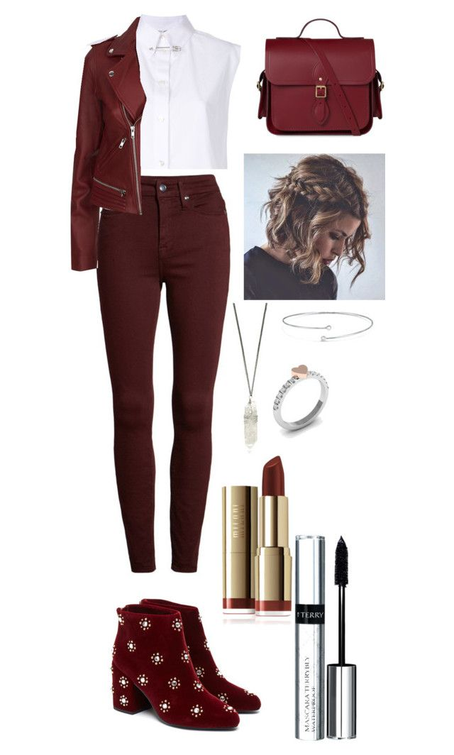 """""""A little bit of red"""" by utkonos on Polyvore featuring Helmut Lang, Good American, Senso, Maje, Elsa Peretti and By Terry"""