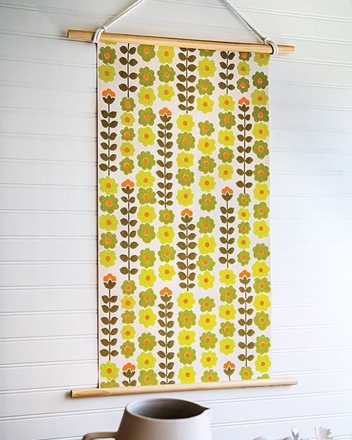 Vintage Wallpaper Wall Hanging - http://www.sweetpaulmag.com/crafts/vintage-wallpaper-wall-hanging #sweetpaul