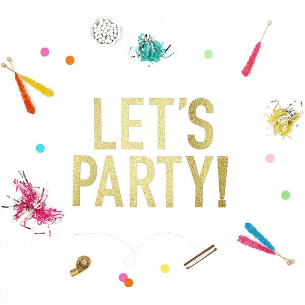 Glitter Banner Let's Party Great for 30th, 40th, 50th Birthday Party you know the Milestone Parties  #sprinklesomehappinesswww.pixiedustpartyspot.com #pixieparty