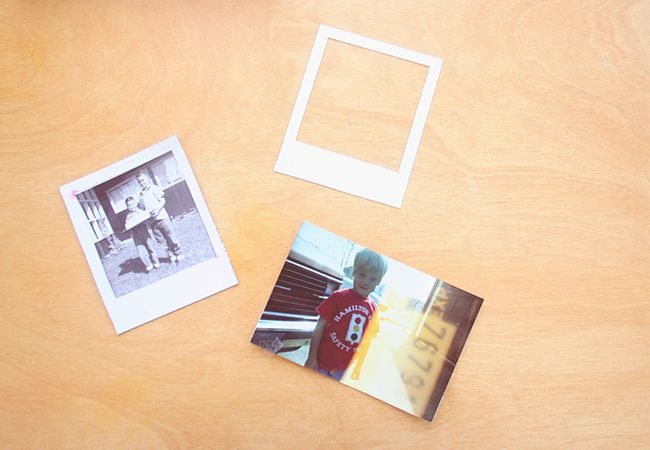 polaroid magnet frame tutorial diy project