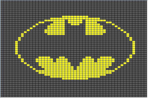 Free Batman symbol cross stitch pattern #stitching #comics