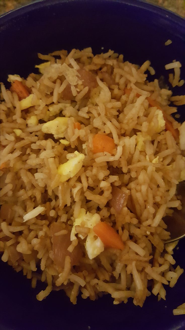 The secret to the best Chinese fried rice is onions, garlic and sesame oil, you may add in cooked chicken, beef, pork or shrimp, also you may add in some frozen thawed peas or fresh sauteed or canned mushrooms, whatever you have handy in your fridge! - for this recipe it is best to use slightly undercooked rice that is more firm that soft the best recipe is the firm option on my recipe#350260 the amount of egg does not matter, if you like lots of egg then use as many eggs as desired, if you…
