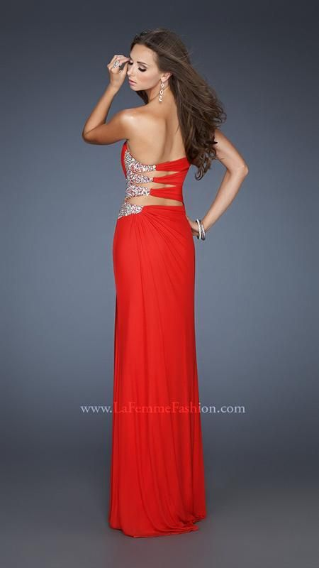 { 18771 | La Femme Fashion 2013 } La Femme Prom Dresses - Top Style - Red - Peek-a-boo side - Sweetheart - Sexy