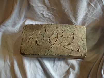 One of the special bricks in the collection at Whittlesey Museum.