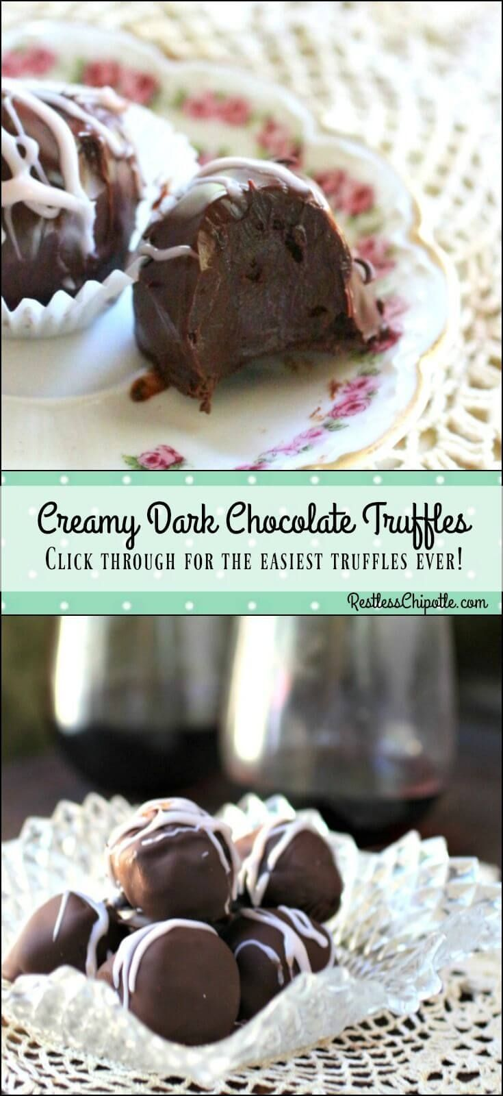 So easy! Thise creamy, homemade, dark chocolate truffles recipe is a cinch to…