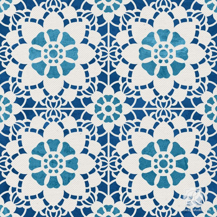 Rug inspiration: Snowflake lace craft stencils for DIY Christmas decor and wall murals - Royal Design Studio