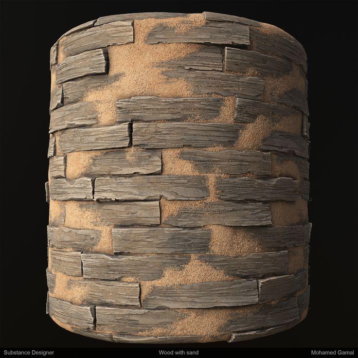 ArtStation - Wood with sand - Substance Designer , Mohamed Gamal