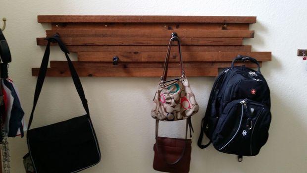 Picture of Scrap wood coat/backpack hanger