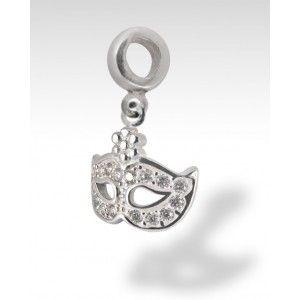 MASK PANDORA COMPATIBLE SILVER ZIRCONIA DIAMOND VENETIAN CARNIVAL  Buy online https://www.eredijovon.com/en/2578-mask-pandora-compatible-silver-zirconia-diamond-venetian-carnival.html  #italianpandoracompatiblecharms #luckycharms #handmadecharms #venicecharms #rialtobridgecharm #gondolacharm