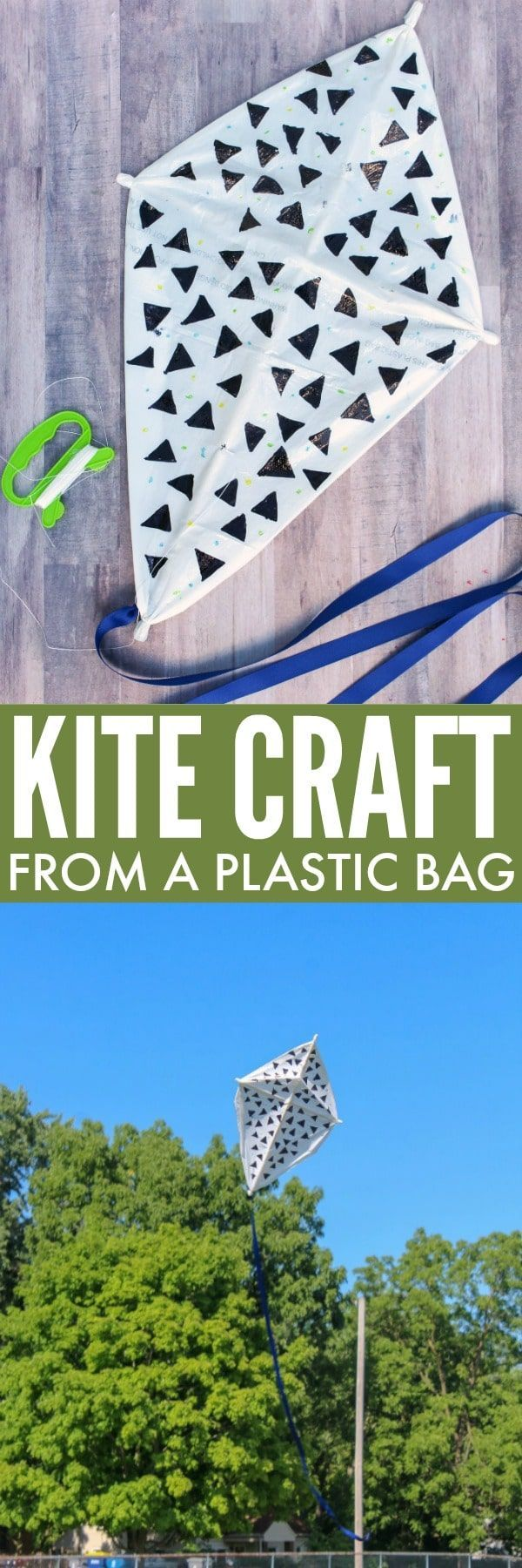 Plastic Bag Kite Craft for Kids - Great Spring or Summer Craft ...