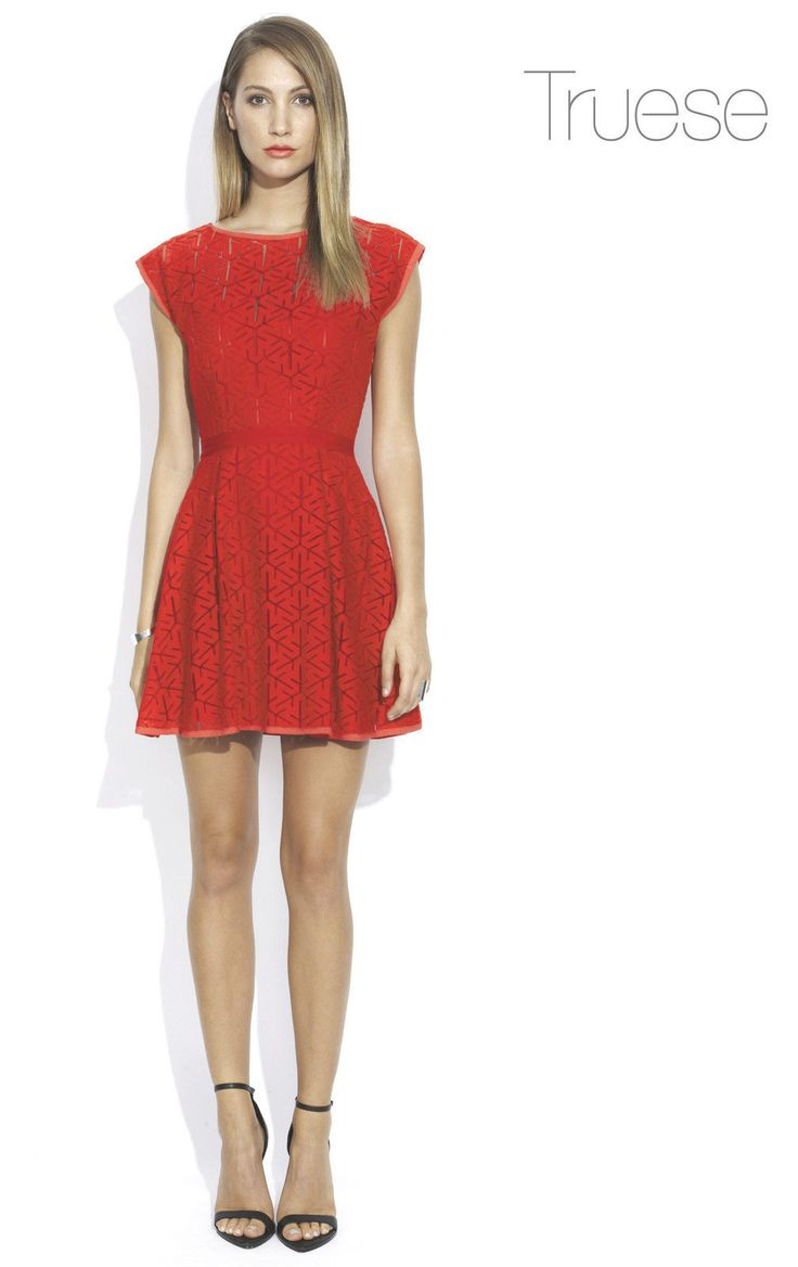 Truese - By Wish Red Prism Dress
