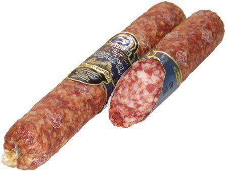 Сыро-копченая колбаса свинина высшего сорта