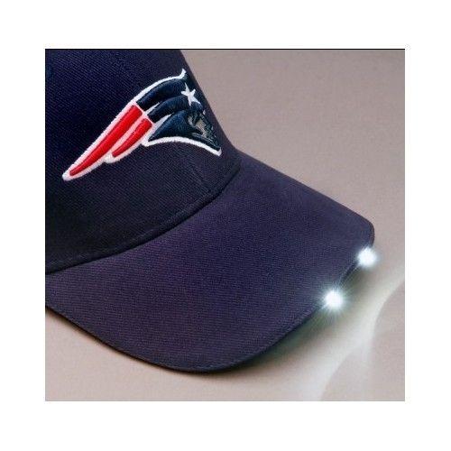 Nfl New England Patriots Dual Led Headlight Visor Adjustable Hat