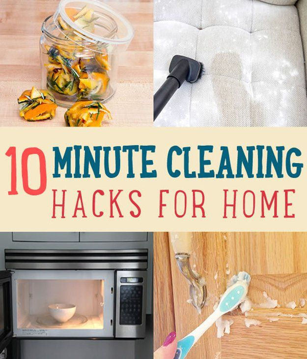 10 Minute Cleaning Hacks for Home   www.diyprojects.com/10-minute-cleaning-hacks-that-will-keep-your-home-sparkling/