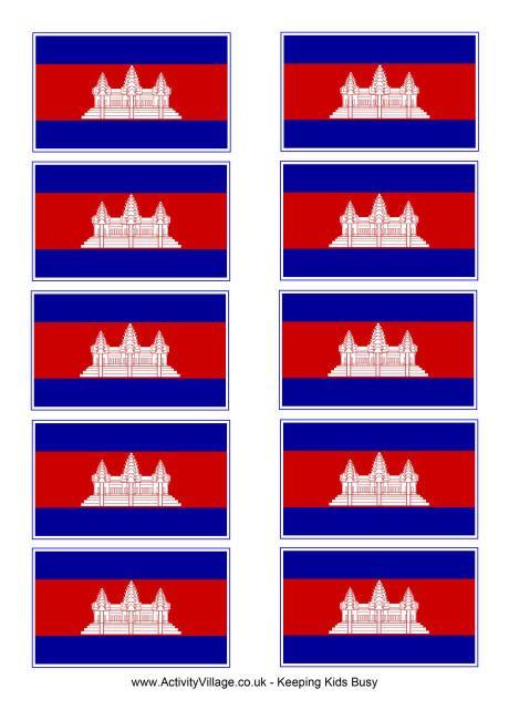 Cambodia flag printable